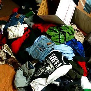 5lb Name brand mystery box mens lot shirt jeans
